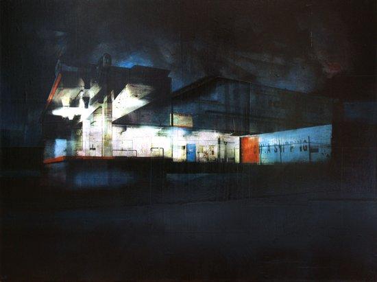 The Ice Docks Art Print