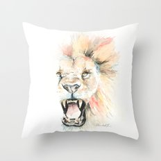 Savage Lion Throw Pillow
