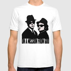 Blues Brothers SMALL White Mens Fitted Tee