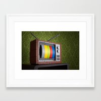 57 Channels and Nothing On Framed Art Print