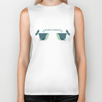Be Nice to Whales Biker Tank