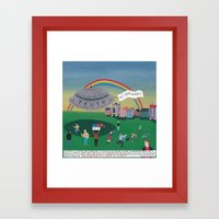 The Extraterrestrial Thr… Framed Art Print