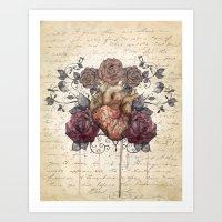 Flowers from my heart Art Print
