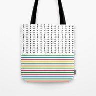 Stripes & Rings Tote Bag