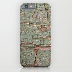 Cracked Wood Paint iPhone 6 Slim Case