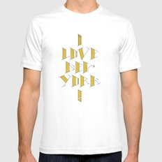 I Love New York White SMALL Mens Fitted Tee
