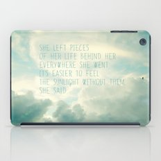 she left pieces of her life behind iPad Case