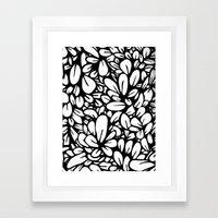 Crazy Flowers Framed Art Print