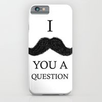 iPhone & iPod Case featuring i moustache you a question by Olympia Tzirki