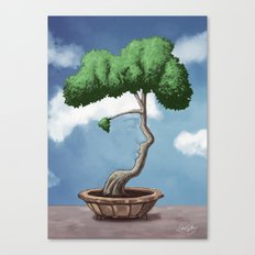 'Bonsai choose own way grow because root strong' (Daniel version) Canvas Print