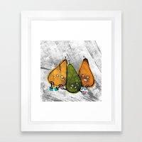 Drunken Pears Brothers Framed Art Print