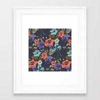 Midnight Garden Pop Framed Art Print
