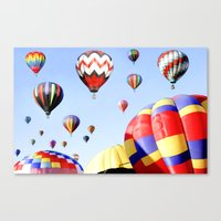 Balloons In The Sky - Pa… Canvas Print