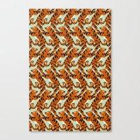 Tiger Conga pattern Canvas Print
