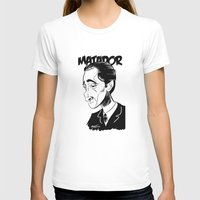 Adrien Brody Womens Fitted Tee White SMALL