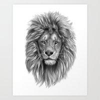 Lion-  Portrait SK073 Art Print