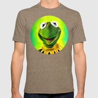 The Muppets- Kermit The … Mens Fitted Tee Tri-Coffee SMALL