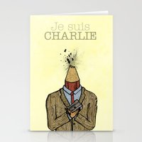Je Suis Charlie Stationery Cards