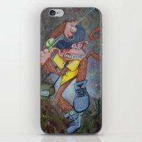 Fisherman Monkey iPhone & iPod Skin