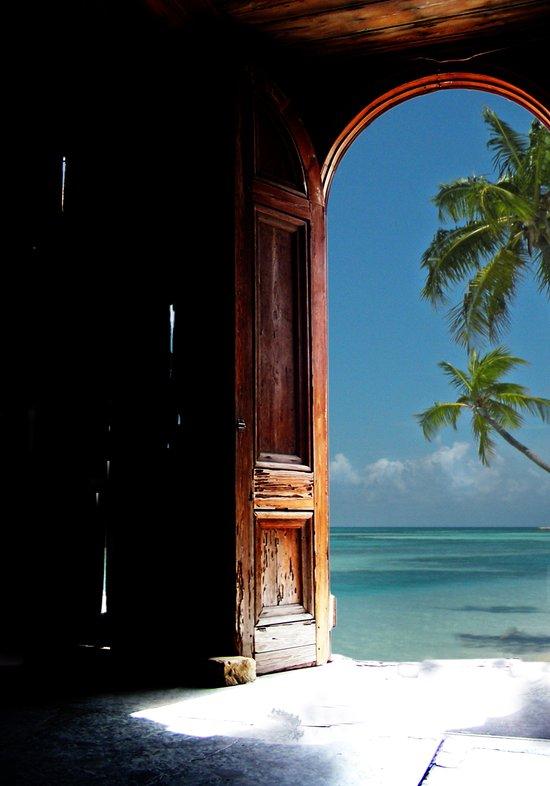 Doorway to Tropical Dreams Art Print