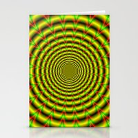 Pulse in Red Yellow and Green Stationery Cards
