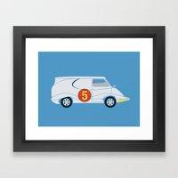Tha Mach5 Van Framed Art Print