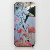 iPhone & iPod Case featuring Flamingo Teaparty by Grettyworks