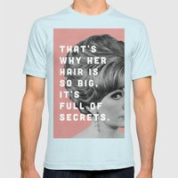 Full of Secrets Mens Fitted Tee Light Blue SMALL