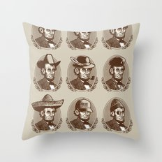Abe Tries on Hats Throw Pillow
