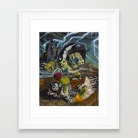 Monster Ride. Framed Art Print