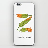 Z is for Zucchini Blossoms iPhone & iPod Skin
