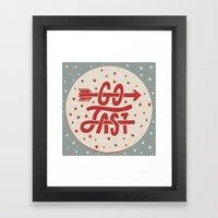 Go Fast Framed Art Print