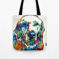 Labrador Retriever Art -… Tote Bag