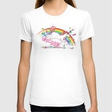 Unicorn: Destroyer of Ponies! Womens Fitted Tee White SMALL