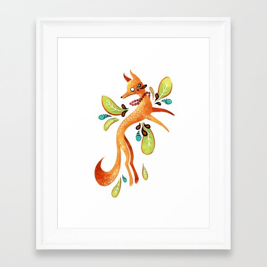 Autumn Fox Framed Art Print