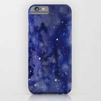 Night Sky Galaxy Stars | Watercolor Space Texture iPhone 6 Slim Case