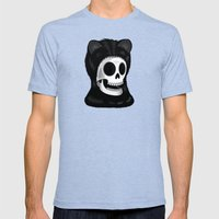 I came here to take you to the purrrrrgatory Mens Fitted Tee Tri-Blue SMALL