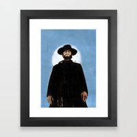 They'd Never Forget The Day He Drifted Into Town Framed Art Print