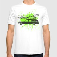 Galactic Hearse Mens Fitted Tee White SMALL