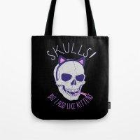 Skulls and Kittens Tote Bag