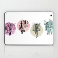 Brush Pen Fashion Illustration - Friends Laptop & iPad Skin