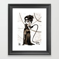 Masque Au Fouet Framed Art Print