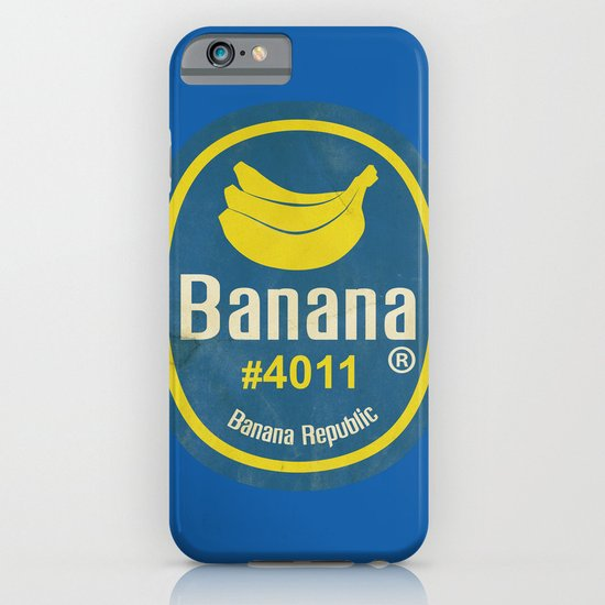 Banana Sticker On Blue iPhone & iPod Case