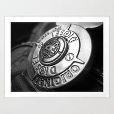 The shield of diesel Art Print