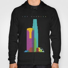 Shapes of Los Angeles accurate to scale Hoody
