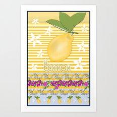 Lemon From Capri Art Print