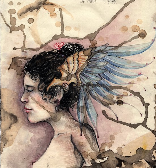 Blue Feathers Art Print