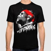 Lebron J Mens Fitted Tee Black SMALL
