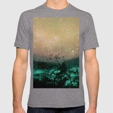 Night Sky Flowers Mens Fitted Tee Tri-Grey SMALL