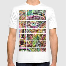 The Most Gigantic Lying Eyes SMALL White Mens Fitted Tee